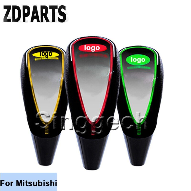 ZDPARTS Car Styling Gear Shift Knob Touch Sensor Colourful LED Light 5/6 Speed For Mitsubishi ASX Lancer 10 9 Outlander Pajero