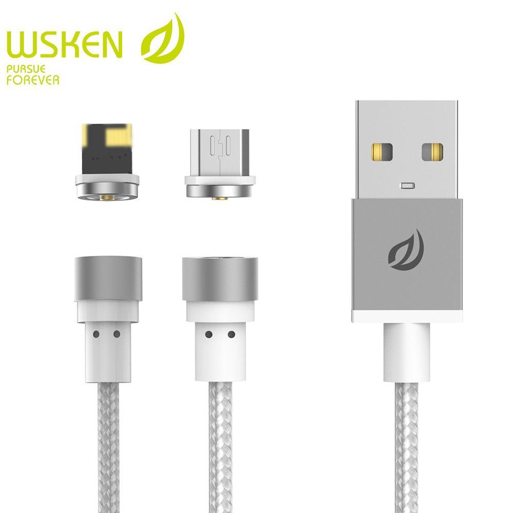 WSKEN Micro USB Runde Für Samsung S7 Huawei Für iphone X-Kabel USB Draht Für iphone 6 6 S 5 5 S 7 7 S Plus