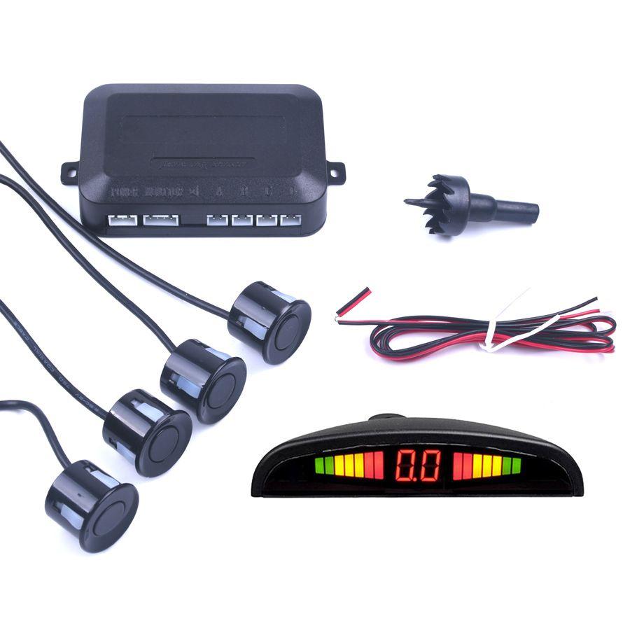 Voiture Auto Parktronic LED capteur de stationnement avec 4 capteurs sauvegarde inverse voiture Parking Radar moniteur détecteur système rétro-éclairage affichage
