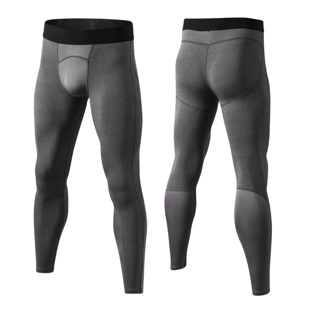 Yuerlian Breathable Men Compression Gym Pants Comfortable Tights Sports Bodybuilding Trousers Quick Drying Leggings Free Ship