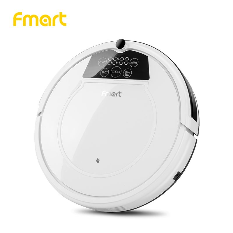 Fmart Robot Vacuum Cleaner Home Cleaning Appliances With Auto-Load Cleaners Suction+Sweeper +Wet/dry Mop Led Display Aspirator
