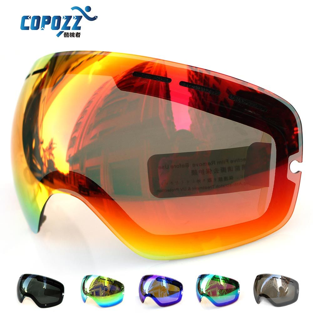 Antibuée motoneige ski pour COPOZZ GOG-201 UV400 grand sphérique ski snowboard lunettes lunettes lunettes lentilles