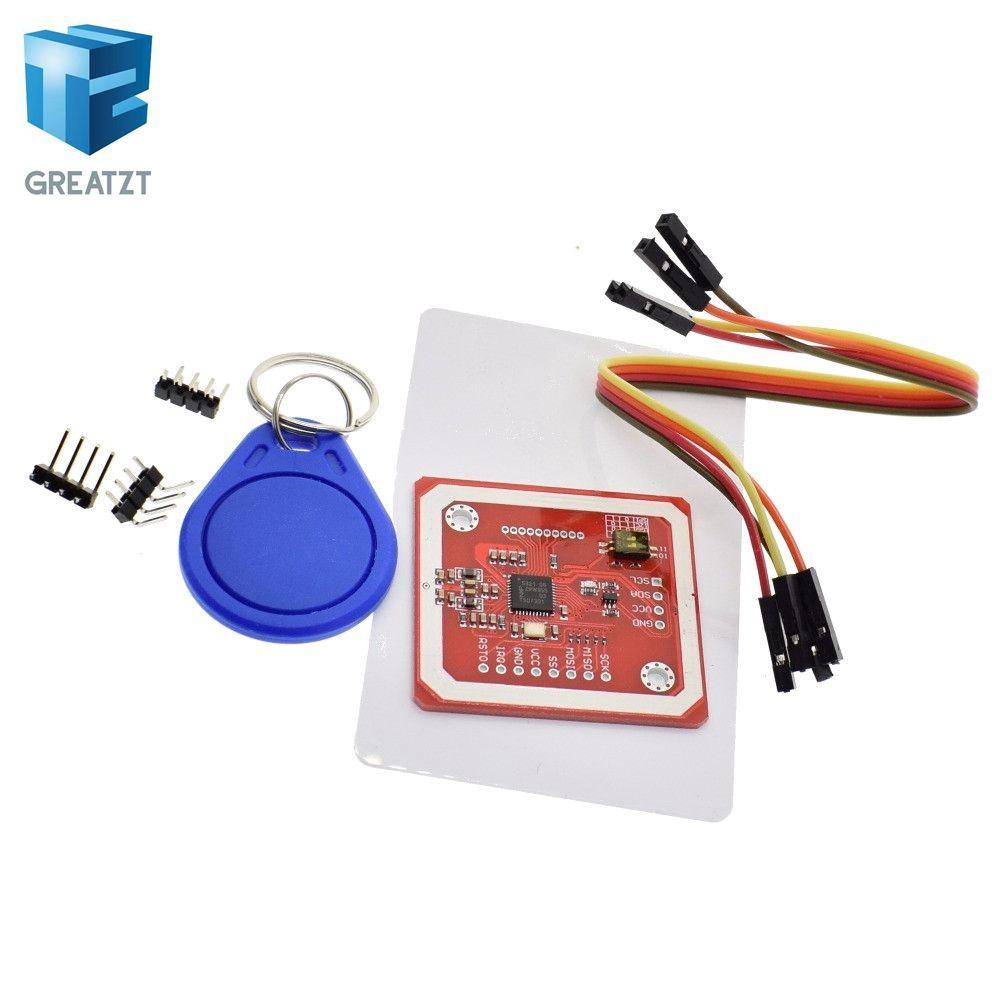 1Set GREATZT PN532 NFC RFID Wireless Module V3 User Kits Reader Writer Mode IC S50 Card PCB Attenna I2C IIC SPI HSU For Arduino