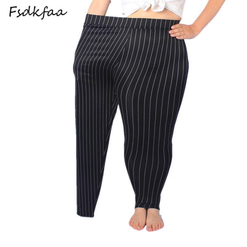 2018 Femmes Haute Élastique Mince Simili Cuir Leggings Grande Taille Xl-5XL Imitation Cuir Pantalon Skinny Noir Brillant Plus Leggings
