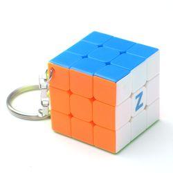 Z Key Chain Mini 3x3 Magic Cube Creative Cube Hang Decorations - Colorful