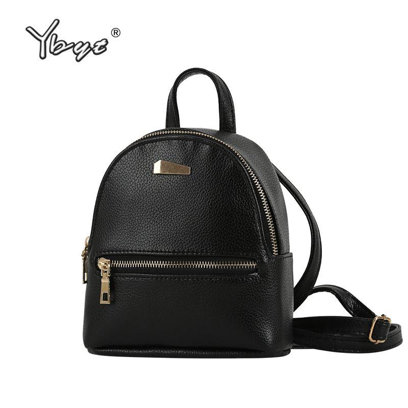 Ybyt брендовая Новинка 2017 маленький рюкзак моды Лидер продаж женские Торговый кошелек дамы Джокер Bookbag Дорожная сумка школьные рюкзаки