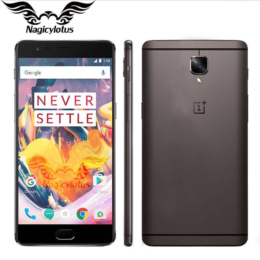 Neue Original OnePlus 3 T A3010 5,5 FHD Android 6 Snapdragon 821 6 GB RAM 128 GB ROM 16MP NFC Handy Oneplus 3 T