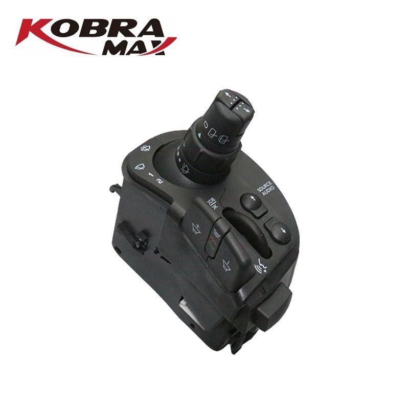 KobraMax Auto Zubehör Radio & Scheibenwischer Lenksäule Kombination Schalter für RENAULT CLIO III MODUS KANGOO OEM 8201590631