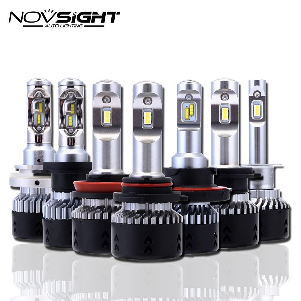 NOVSIGHT H4 H11/H8/H16jp H7 LED Car Headlights Bulbs 70W 10000LM H15 Hi/lo Driving Fog Lights H1 H3 9005 9006 Headlamp Light D40