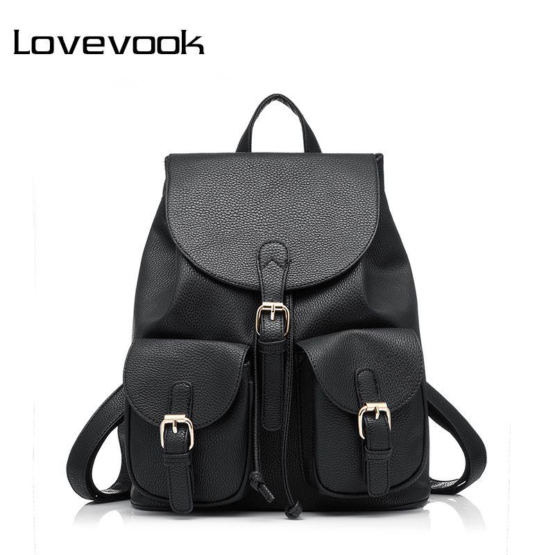 LOVEVOOK рюкзак женский школьный для девочек подростков женские рюкзаки из искусственной кожи PU высокого качества дамские сумки с много карман...