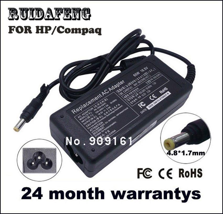 18.5 V 3.5A 65 W Pour HP Compaq 500 510 520 530 540 550 620 625 G3000 NC4000 NC4010 NC4200 Laptop AC Chargeur Puissance adaptateur