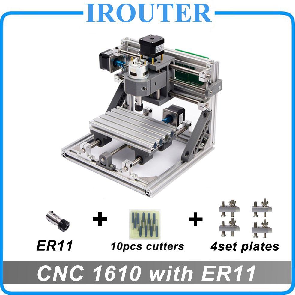 CNC 1610 с ER11, Мини DIY гравировальный станок, pcb Фрезерные станки, дерево Вырезка маршрутизатор, cnc1610, самые передовые игрушки