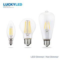 GLÜCK Led-lampe E27 Dimmbare 2 w 4 w 6 w 8 w E14 Led Kerze Glühbirne 110 v 220 v Vintage Filament Lampe Für Kronleuchter Beleuchtung.