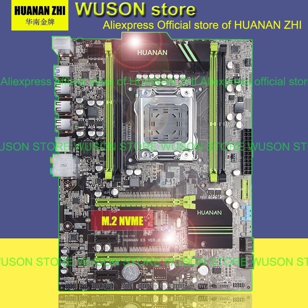 Best selling HUANAN ZHI X79 motherboard 2.49/2.49P ATX SATA3 USB3.0 port PCI-E NVME SSD M.2 port support 4*16G 1866MHz memory