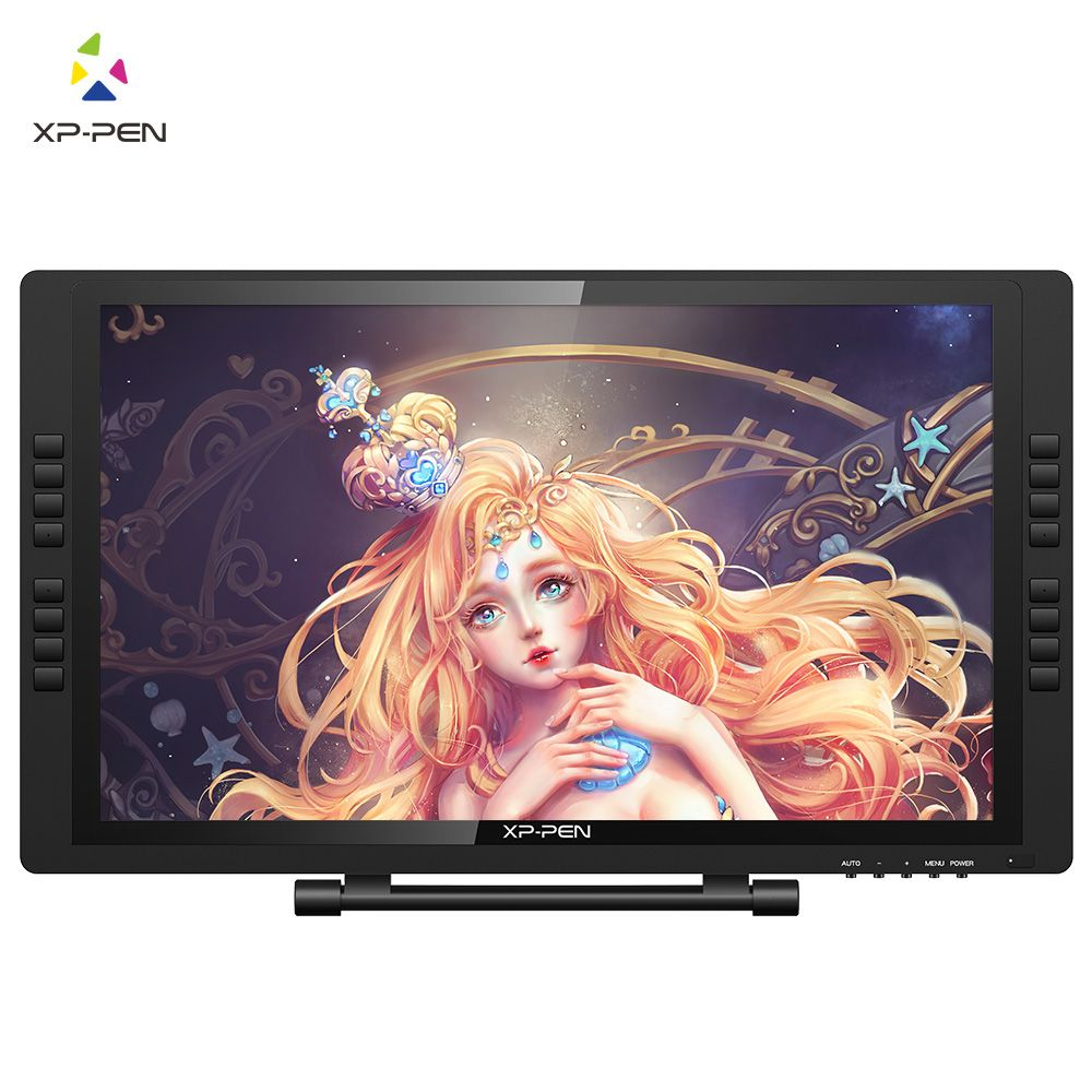 XP-Pen 22E Pro HD IPS Digital Graphic Drawing Tablet Pen Large screen Display Monitor with Express Keys and Adjustable Stand