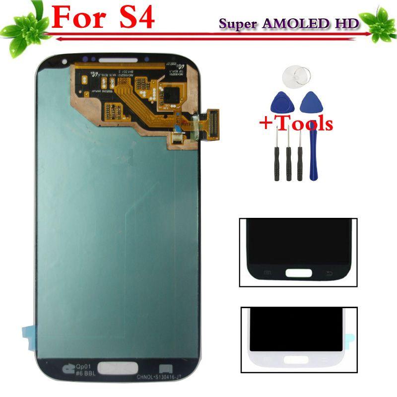 Super AMOLED HD LCD für Samsung Galaxy S4 i9505 i9500 i337 i9506 LCD Display Touch Screen-Digitizer Assembly-Kompatibel