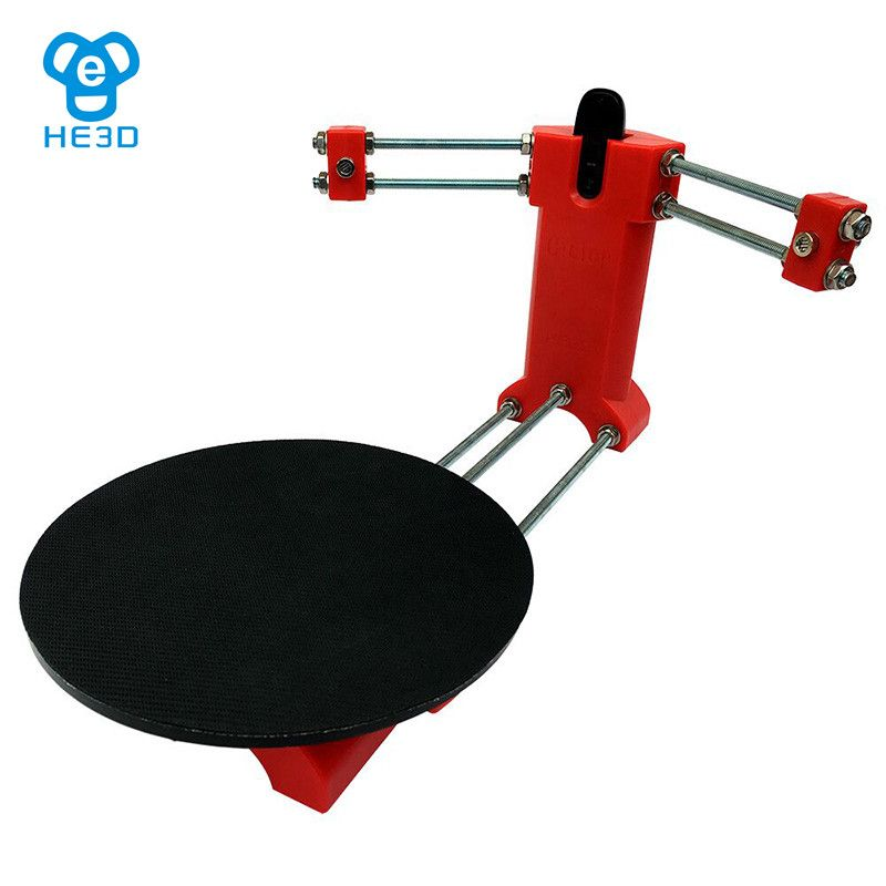 HE3D Open source DIY 3d scanner kit for 3d printer,designer and engineer DIY basic 3D scanner , red injection molding plastics