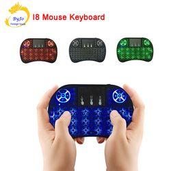 Mini Clavier Sans Fil i8 2.4 GHz Air Mouse Clavier Télécommande Touchpad Pour Android Boîte TV 3D Game Tablet Pc