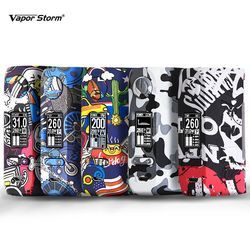 Vapor Storm Storm230 Bypass 200W VW TC Box Mod Vapes Fashion Mod Support Dual 18650 Battery Electronic Cigarette RDA RBA RDTA
