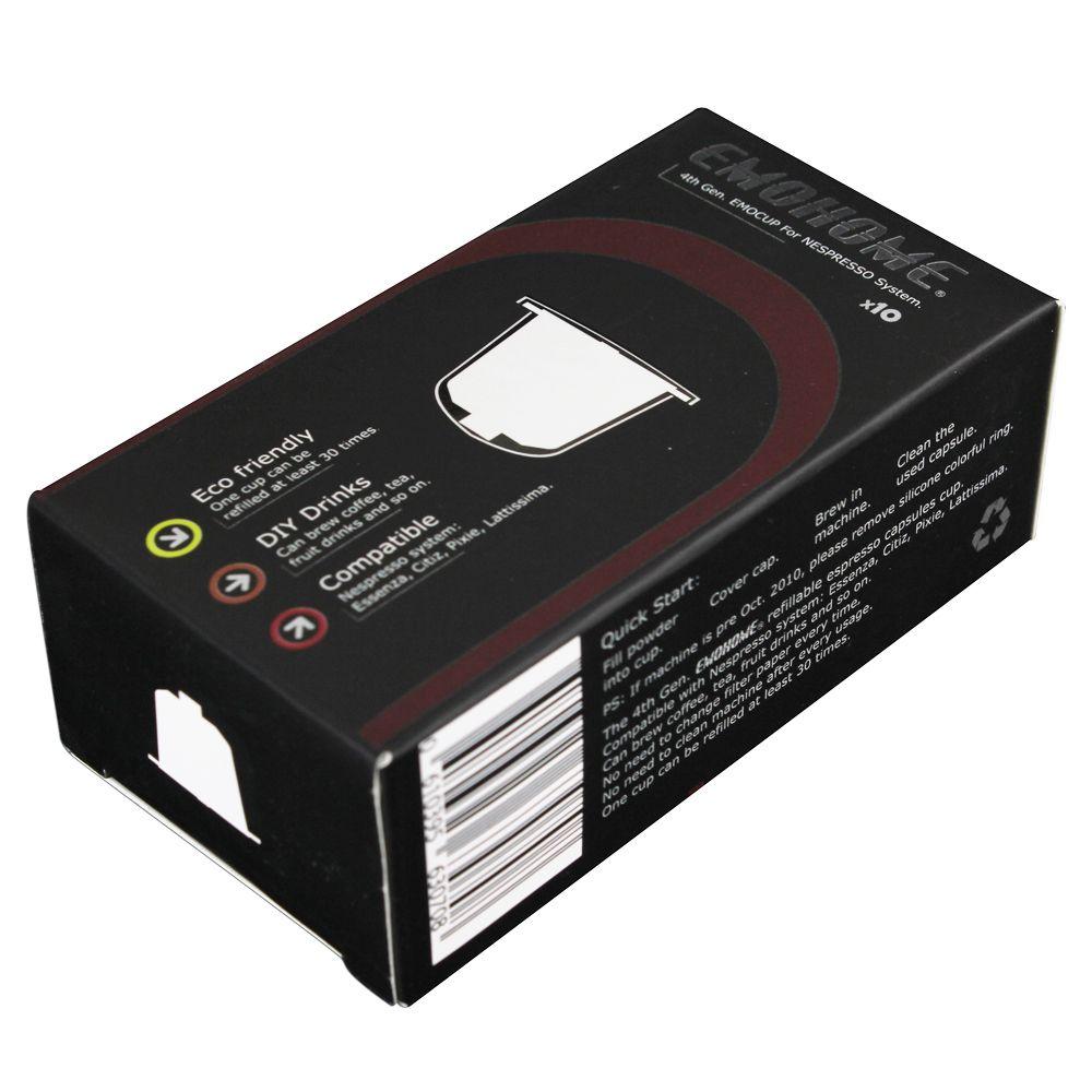 EMOHOME EM-04T 10 pcs Espresso rechargeable Café Capsule pod réutilisable compatible Nespresso machines réutilisable détail