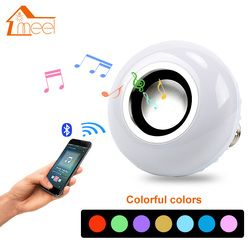 E27 12 W RGB Música Tocando Dimmable Lâmpada LED Lâmpada Luz Bulbo Colorido Sem Fio Bluetooth Speaker Áudio com 24 Chave controle remoto