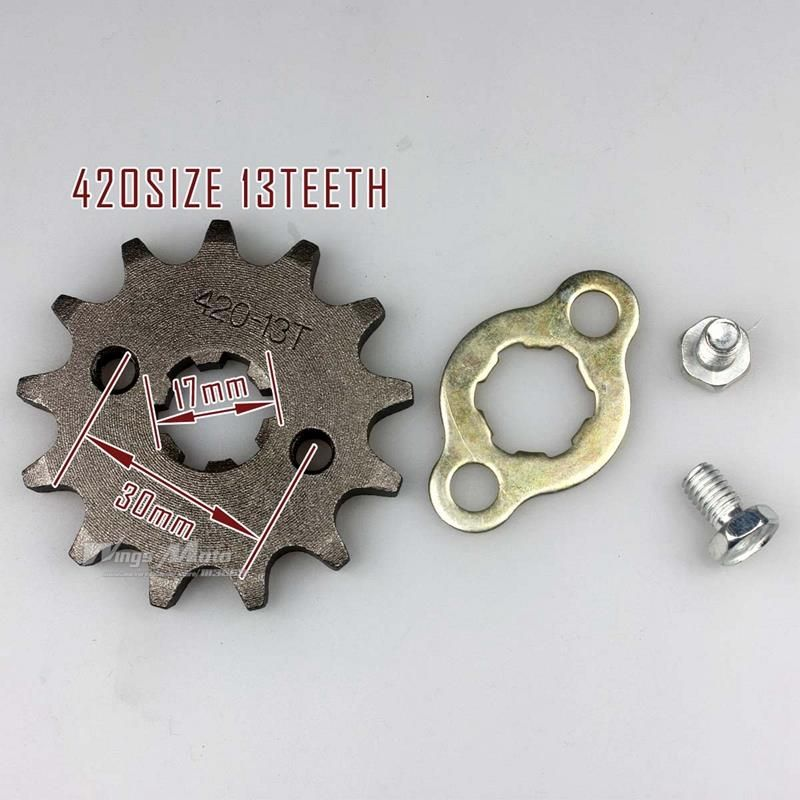 Wingsmoto 420-13T 17mm Front Sprocket 420 Size 13 Teeth for Motorcycle ATV Dirtbike