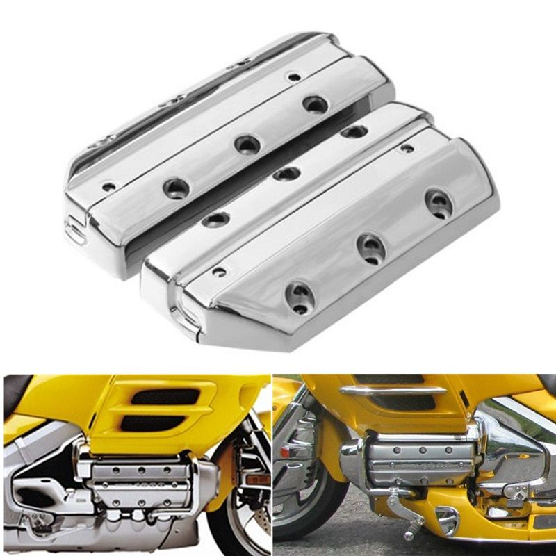Motorcycle Chrome Black Valve Cover Cylinder Head For Honda Goldwing 1800 GL1800 2001-2013 2002 2003
