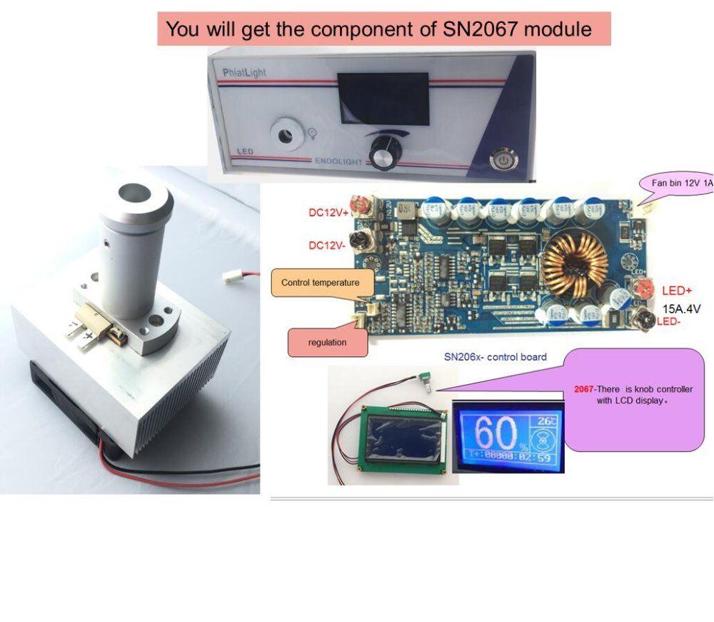 Die neueste medizinische endoskop lichtquelle modul und ENT led-lampe box phlatlight cbt90 controller Knopf mit LCD display SN2067