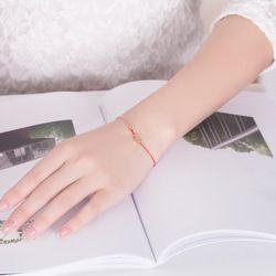 ZTUNG CAB11 petite Fille Chanceux Rouge Corde Bracelets Pour Femmes Mode Pur Tissés À La Main Tressé Bracelet Pulseras