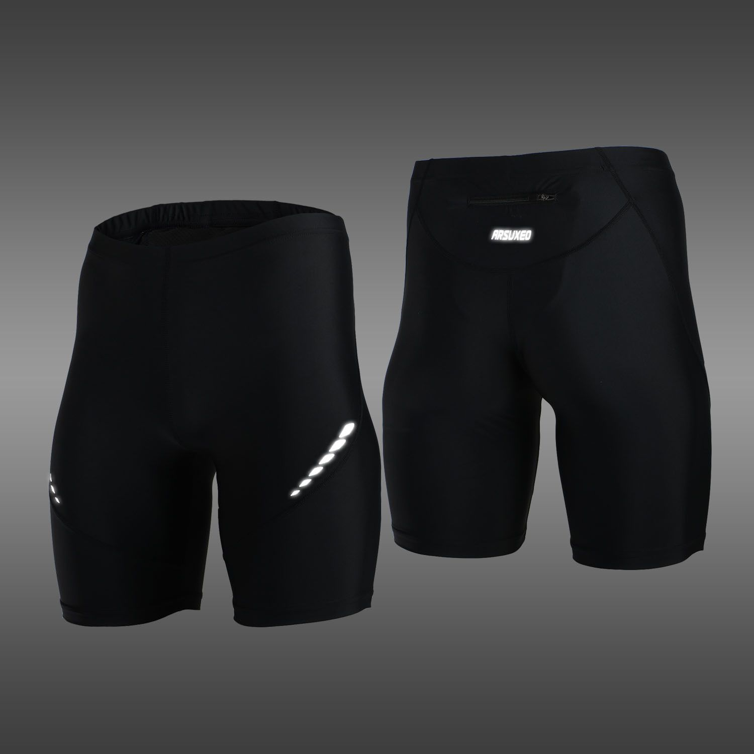 Pro Hommes de Collants Running Court Réfléchissant À Séchage Rapide Élastique Sport Leggings Compression Gym Fitness Shorts D'été pantalons de Survêtement