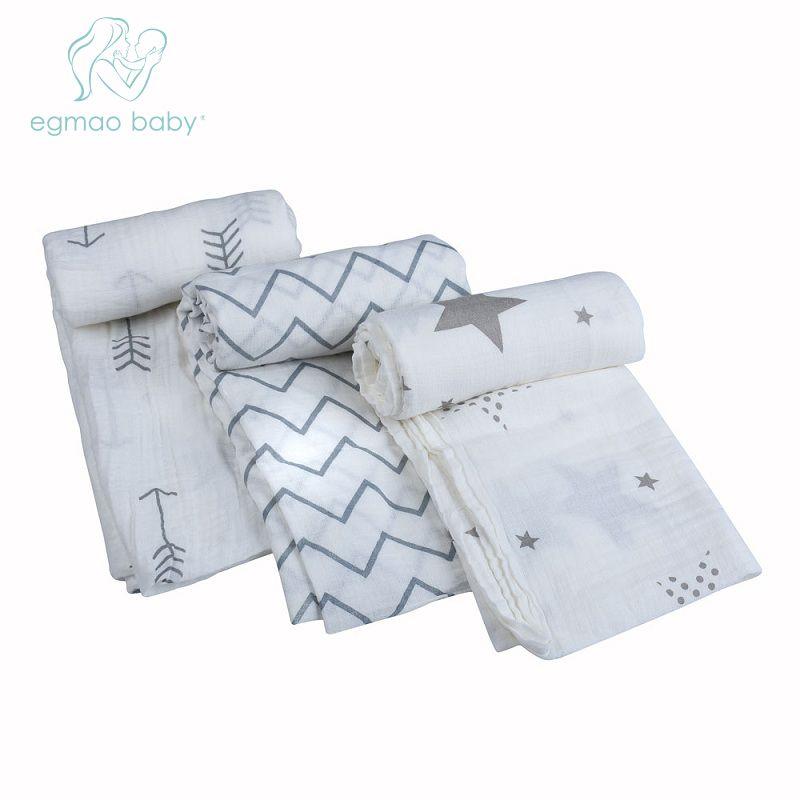 Один пакет муслин Детские Пеленание Одеяло новорожденных 100% хлопок пеленать бамбука Полотенца поставка в произвольной последовательности...
