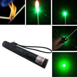Регулируемая фокусировка 301 532nm Зеленая лазерная ручка мощная лазерная указка ведущий удаленный лазер Охота Лазерный Прицел без батареи