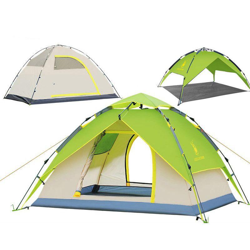 large camping tent 3-4 person Tents Hydraulic automatic Waterproof Outdoor Hiking tent camping Picnic tents tabernacle