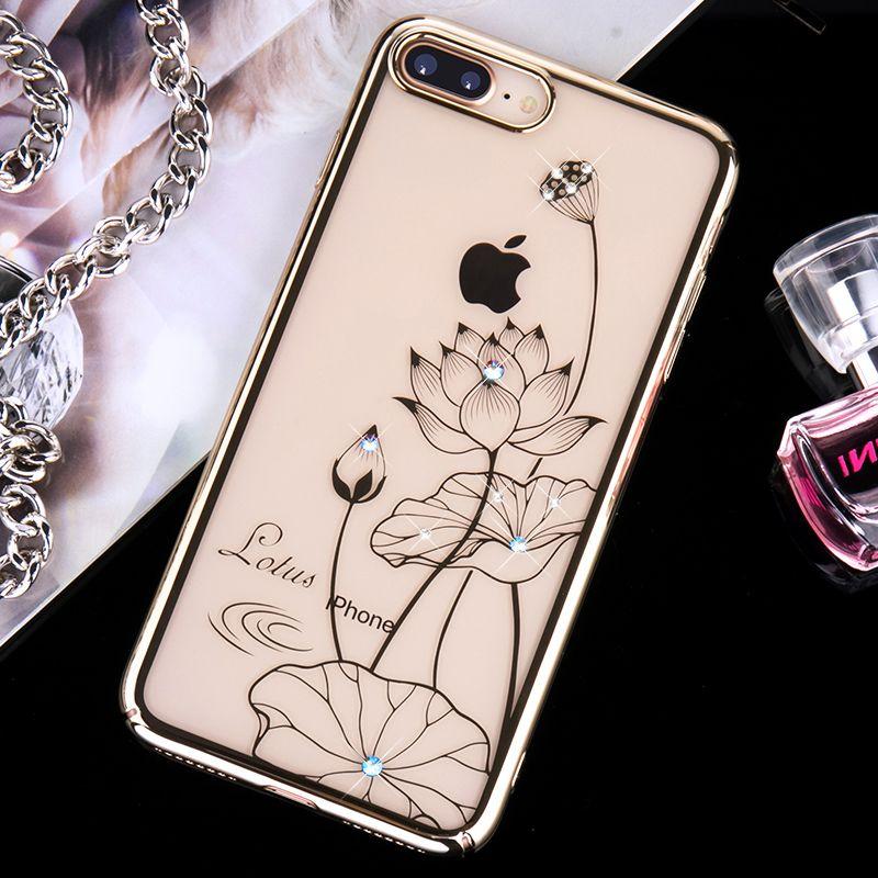 KINGXBAR für iPhone 7 8 Plus Fall Swarovski Element Crystals überzug PC Harten Diamant Strass Fall für iPhone 8 Abdeckung iPhone8