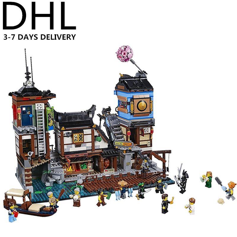 2018 NEW Ninjagoed City Docks Building Blocks Sets Bricks Ninja Movie Classic Model Kids Toys GIFT Marvel Compatible Legoings
