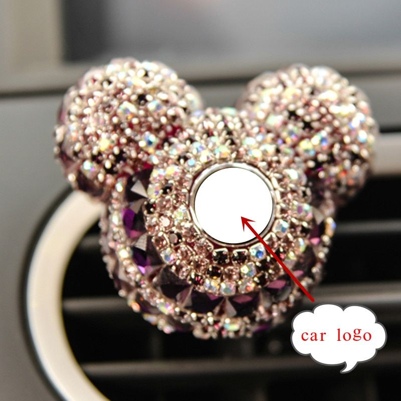 Luxury Car Logo perfume Diamond Air conditioner Outlet clip decoration Car Air Freshener Car Styling Lady Perfumes 100 Original