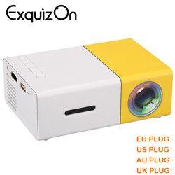Date Mini YG300 LCD Projecteur 400-600 Lumens 320x240 Pixels 3.5mm Audio/HDMI/USB /SD Entrées Médias Proyector/Beamer