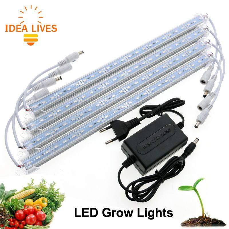 LED Grow Light DC12V Hight Brightness 5630 LED Bar Light for Aquarium Greenhouse Plant Growing.