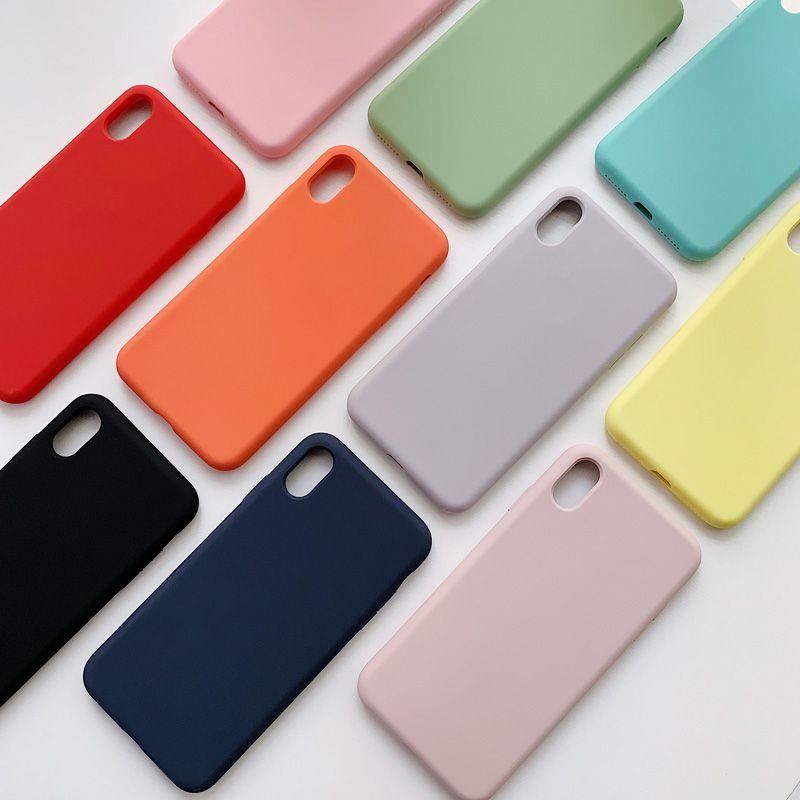 Coque en silicone liquide pour iphone XS Max XR XS antichoc étui pour iphone 8 7 6 6 s plus étui de protection