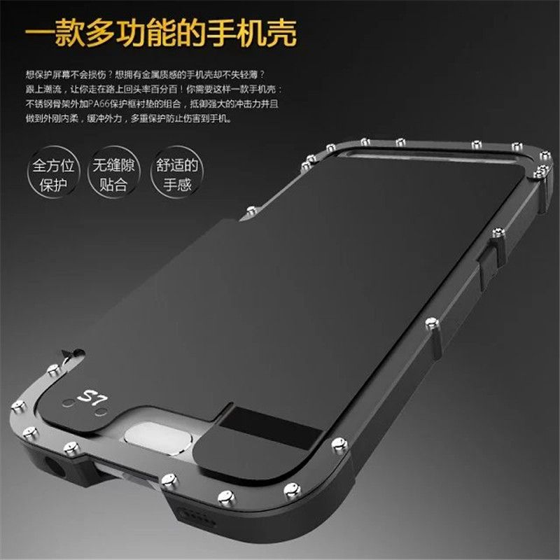 Armor King Steel Metal Shockproof Flip Case For Samsung Galaxy S7 G930 & S7Edge G935 Full protection phone cover