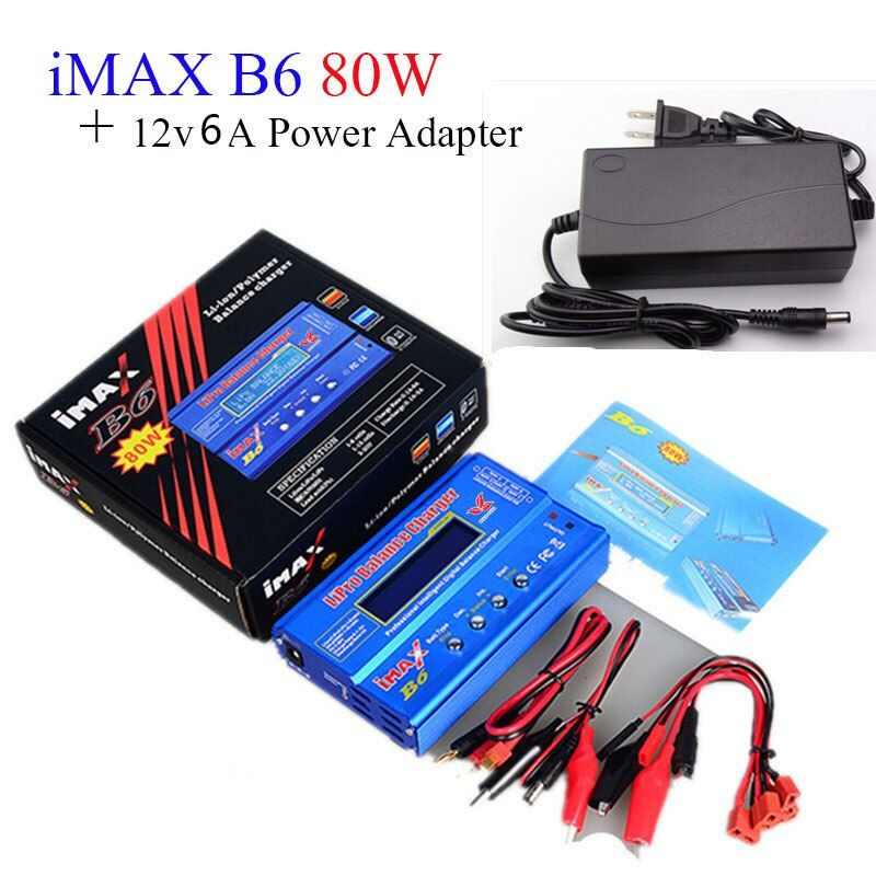 Build-power Lipro Balance Ladegerät iMAX B6 ladegerät Lipro Digitale Balancenaufladeeinheit 12 v 6A Netzteil Lade kabel