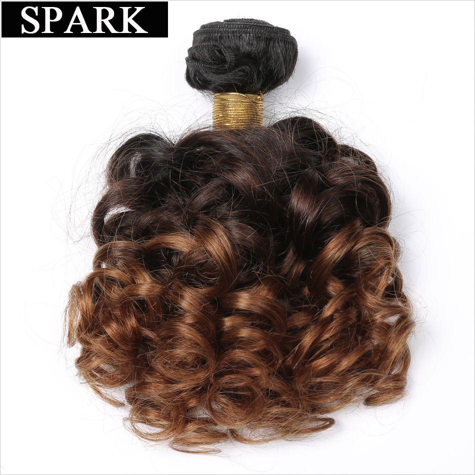 Spark Bouncy Bouclés Cheveux Tissage 3 Ton Ombre Cheveux Bundles Cheveux Brésiliens Armure 1/3/4 Faisceaux 1B /4/30 Remy Extensions de Cheveux Humains