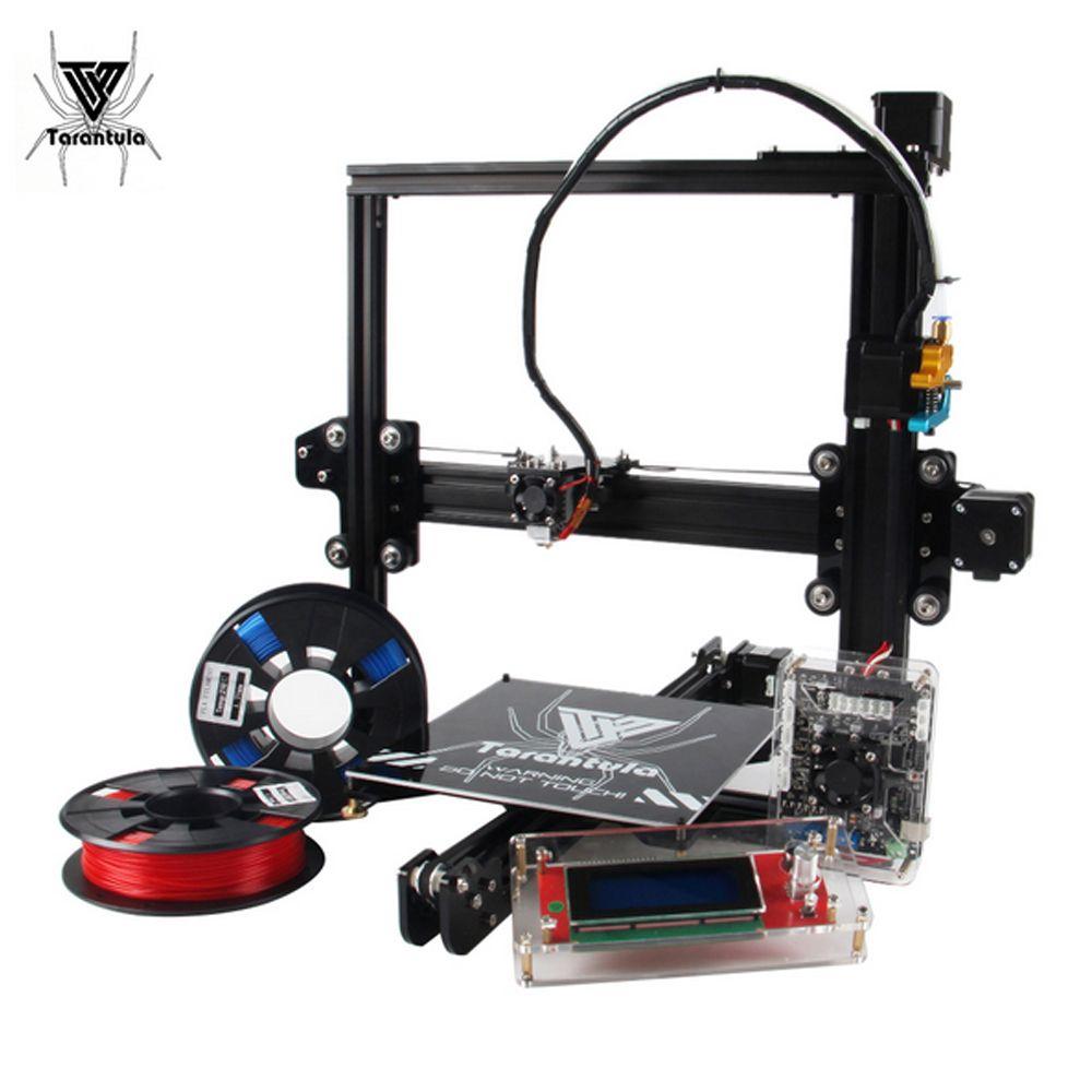2018 NEW Tarantula I3 TEVO 3D Printer kit printer Aluminium Extrusion 3d printing 2 Rolls Filament 512mB SD card LCD As Gift