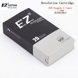 RC0803RLT nueva revolución de EZ tatuaje agujas cartucho redondo Liners #08 0,25mm para máquina de cartucho y apretones 20 unids/caja