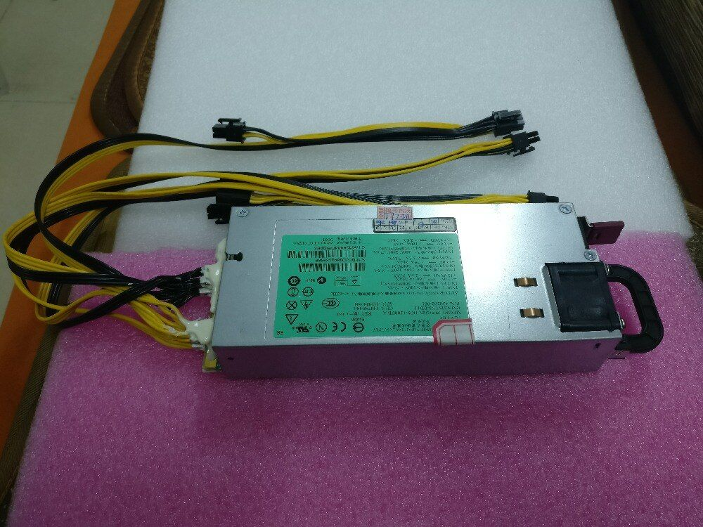 Free shipping BTC LTC miners Power Supply ultra-small size,1200W With 8pcs 6Pin connector