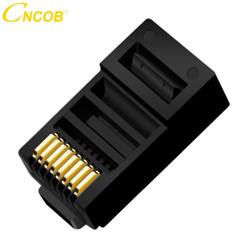 Cncob Cat5E 8P8C Modulaire Ethernet Câble Connecteur Cristal Bouchon À Sertir Réseau RJ 45 Connecteur Noir 30 pcs