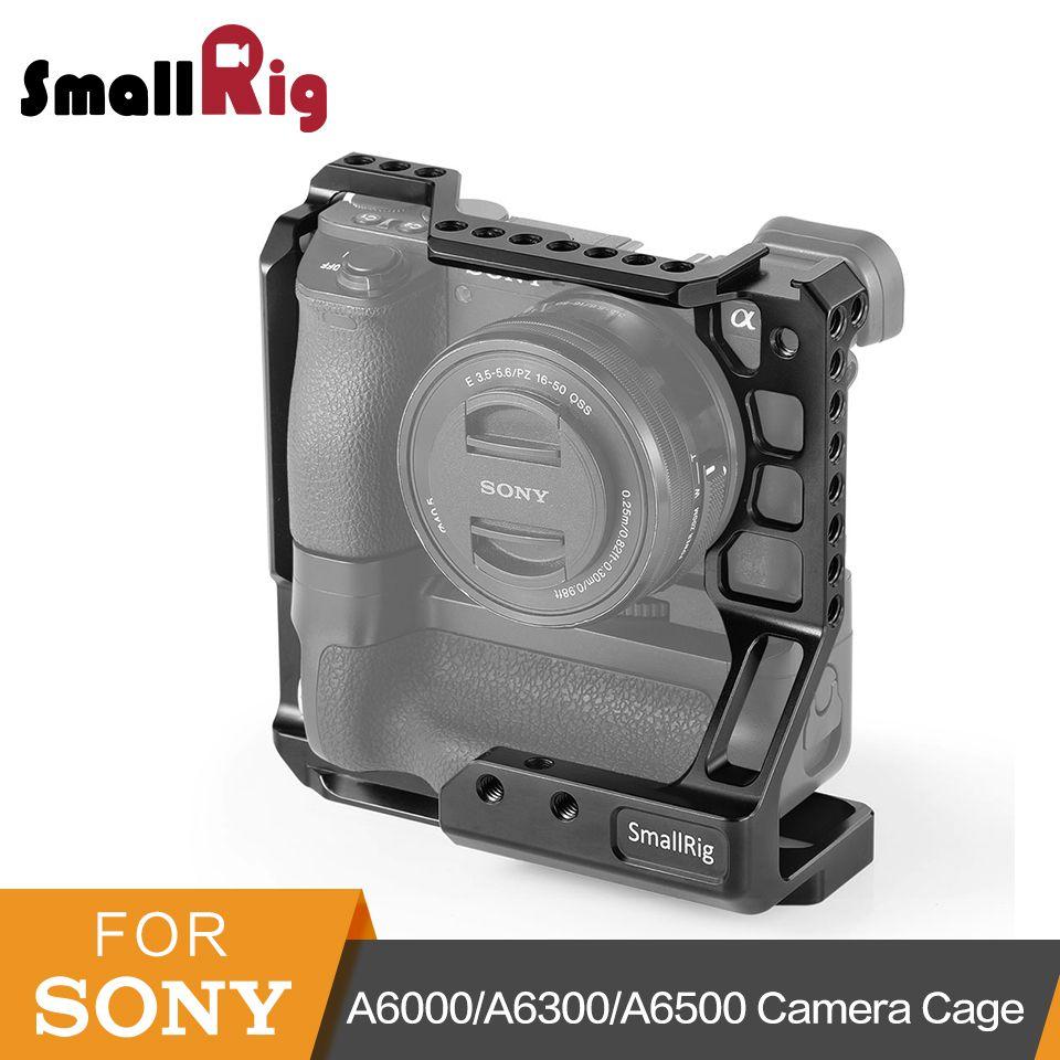 SmallRig DSLR Kamera Käfig für Sony A6000/A6300/A6500 mit Meike MK-A6300/A6500 Kamera Mit Batterie Griff käfig Kit-2268