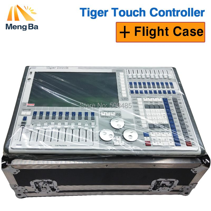 2018 the newest tiger touch 10.0/10.1 system controller large outdoor stage lighting controller DJ equipment with Flight Case