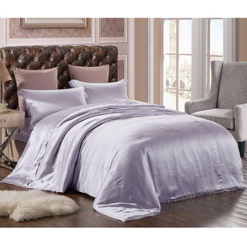 Neue 100% Reine Mulberry Seide Bettwäsche Set 3 stücke Seide Bettbezug Umschlag Kissenbezug Seide Bettwäsche-sets Multicolor Multi größe