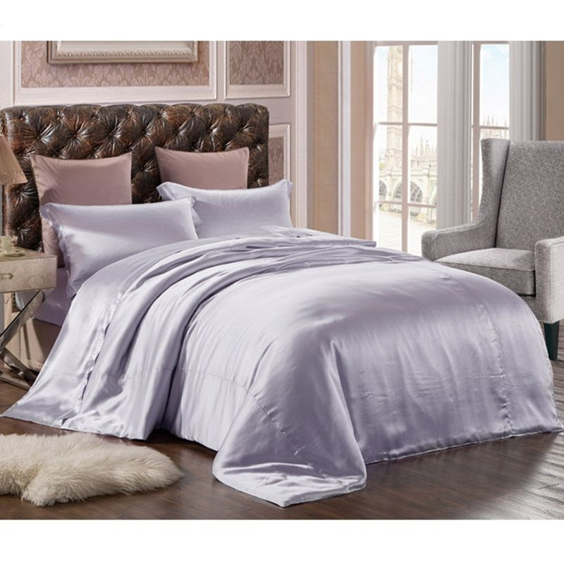 New 100% Pure Mulberry Silk Bedding Set 3PCS Silk Duvet Cover Envelope Pillowcase Silk Duvet Cover Sets Multicolor Multi Size